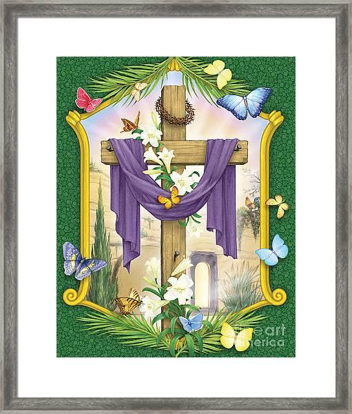 Easter Cross Framed Print