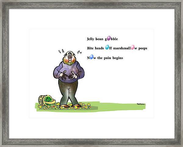 Easter Haiku Framed Print