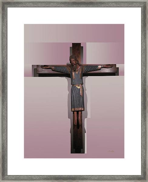 Easter Pasqua Croce Di Gesu Cross Of Jesus Framed Print