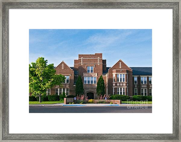 Framed Print featuring the photograph Eastern New Mexico Administration by Mae Wertz