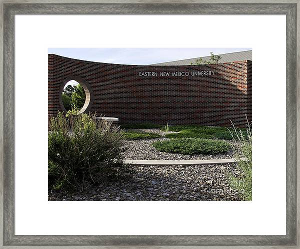 Eastern New Mexico University Framed Print by Mae Wertz