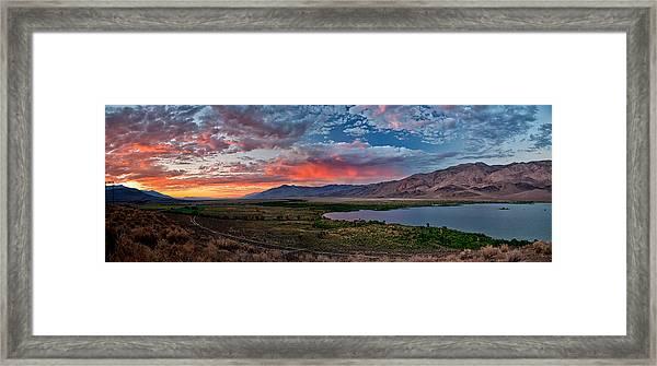 Eastern Sierra Sunset Framed Print