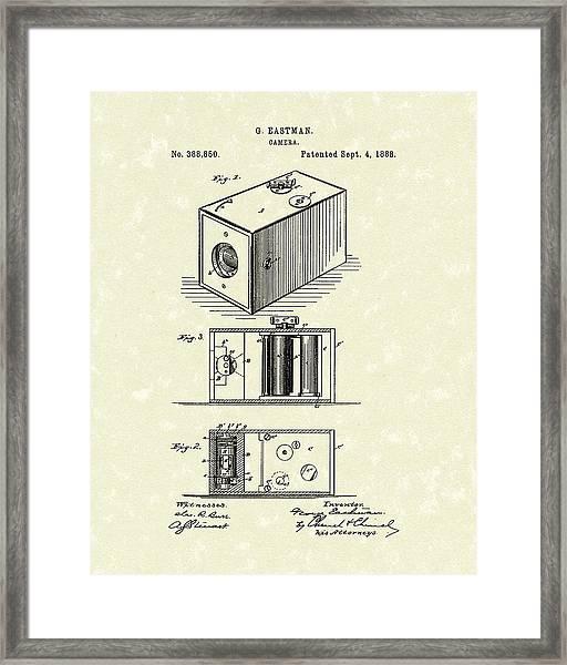 Eastman Camera 1889 Patent Art Framed Print