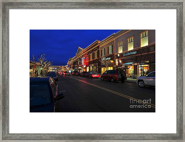 D65l-123 Easton Town Center Photo Framed Print