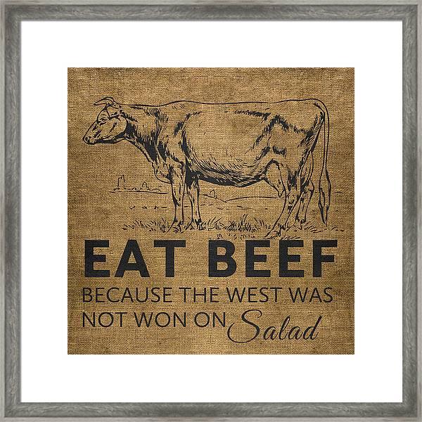 Eat Beef Framed Print