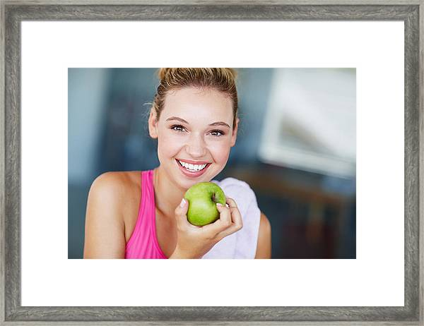 Eating The Right Way For Great Health Framed Print by GlobalStock