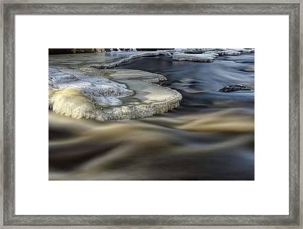 Eau Claire Dells Park River Ice Framed Print