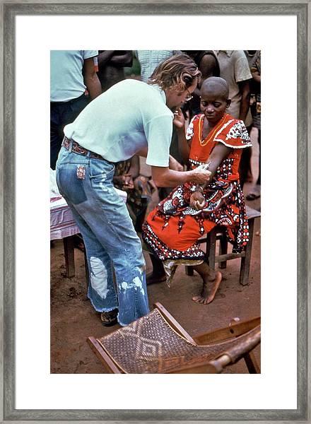 Ebola Disease Outbreak Framed Print