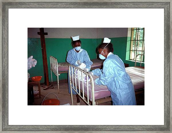 Ebola Isolation Ward Framed Print