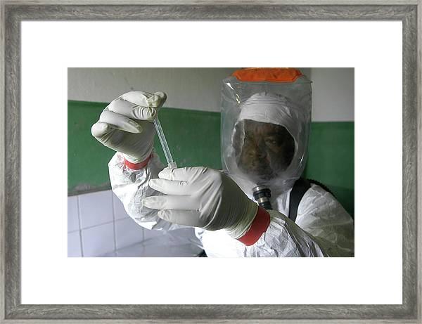 Ebola Virus Research Framed Print