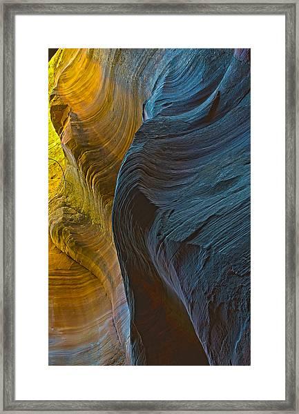 Echo Canyon Glow Framed Print
