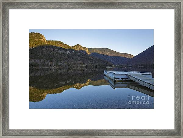 Echo Lake - Franconia Notch State Park New Hampshire Usa Framed Print