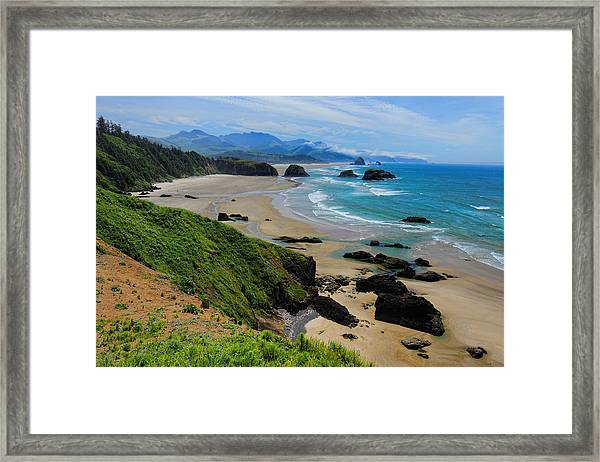 Ecola State Park Beach Framed Print