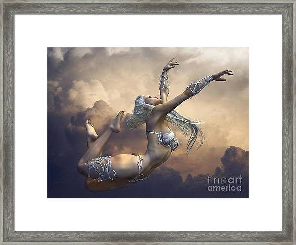 Framed Print featuring the digital art Ecstasy by Sandra Bauser Digital Art