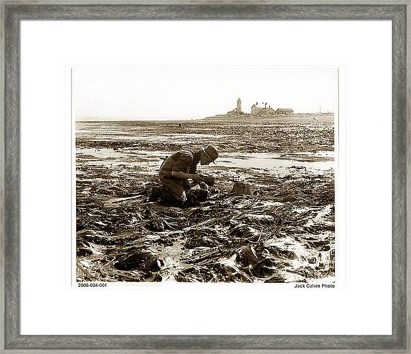 Ed Ricketts At Point Wilson Lighthouse In Port Townsend Wa 1930 Framed Print