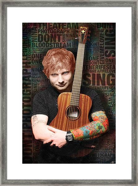 Ed Sheeran And Song Titles Framed Print