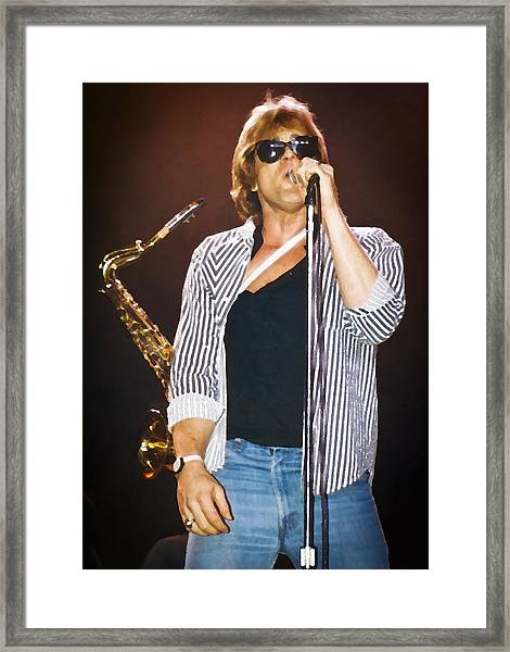 Eddie Money Singing Framed Print