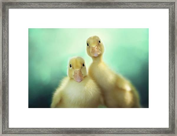 Edgar And Sally Framed Print