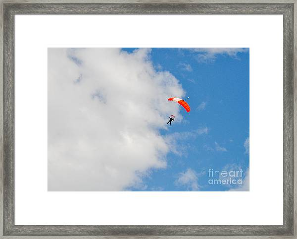 Edge Of The Clouds Framed Print