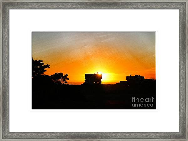 Edge Of The Mendocino Headlands Framed Print