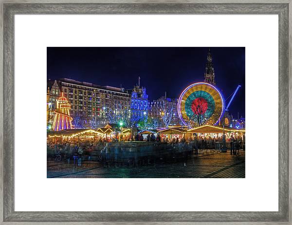 Edinburgh Christmas Market Framed Print