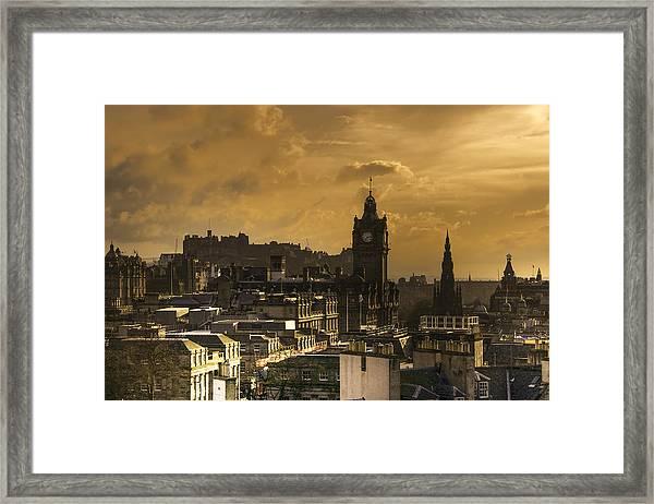 Edinburgh Dusk Framed Print