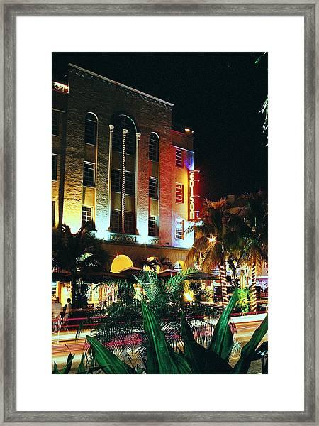Edison Hotel Film Image Framed Print