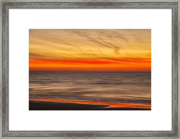 Edisto Beach Sunrise 07 Framed Print