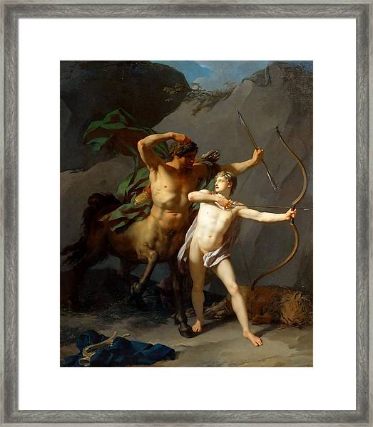 Education Of Achilles Framed Print