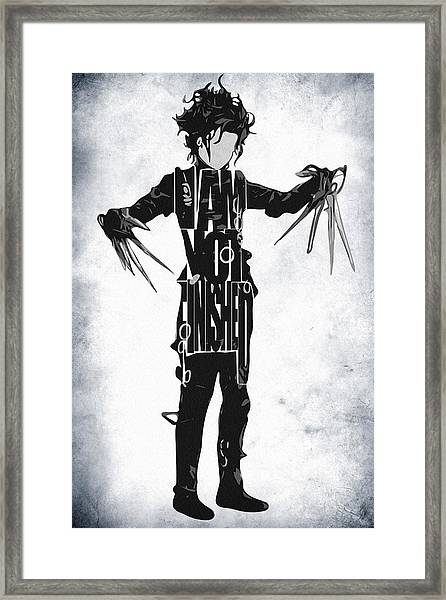 Edward Scissorhands - Johnny Depp Framed Print