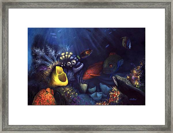 Framed Print featuring the painting Eel by Lynn Buettner