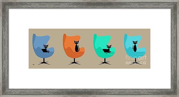 Egg Chairs Framed Print
