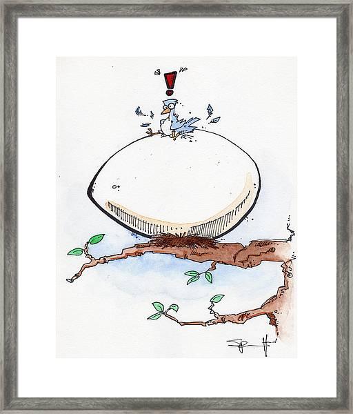 Eggbert Framed Print