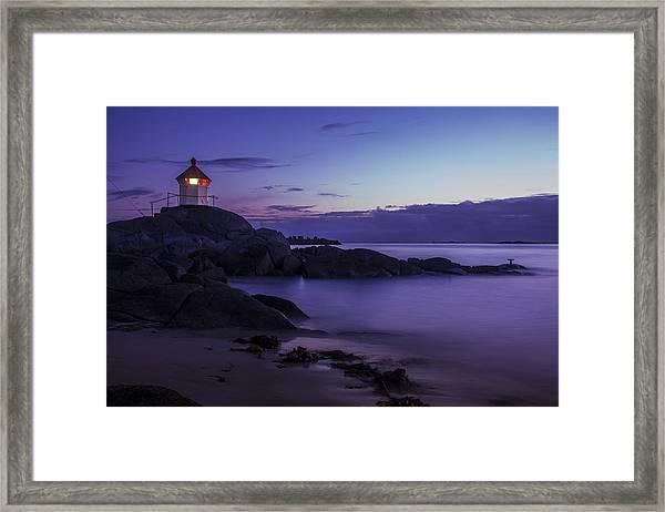Eggum Lighthouse Framed Print