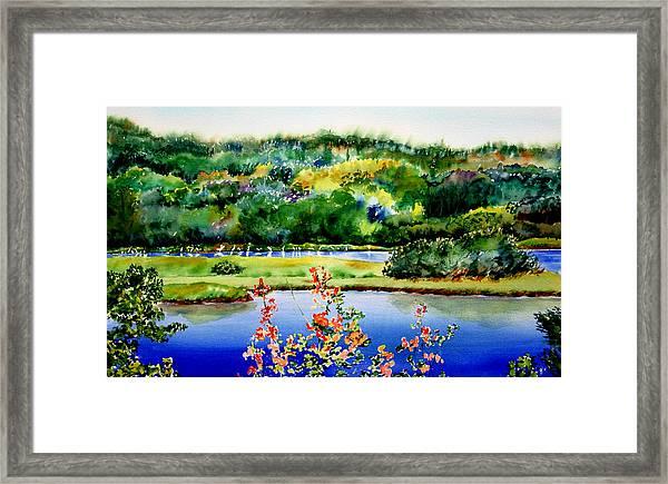 Egret Isle Framed Print