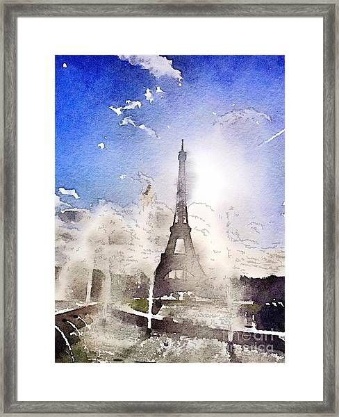 Eiffel During Summer Framed Print