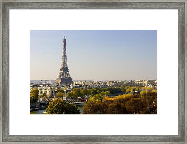 Paris France The Eiffel Tower Framed Print