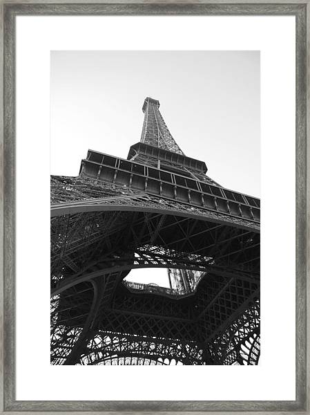 Eiffel Tower B/w Framed Print