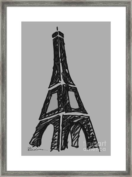 Eiffel Tower Graphic Framed Print
