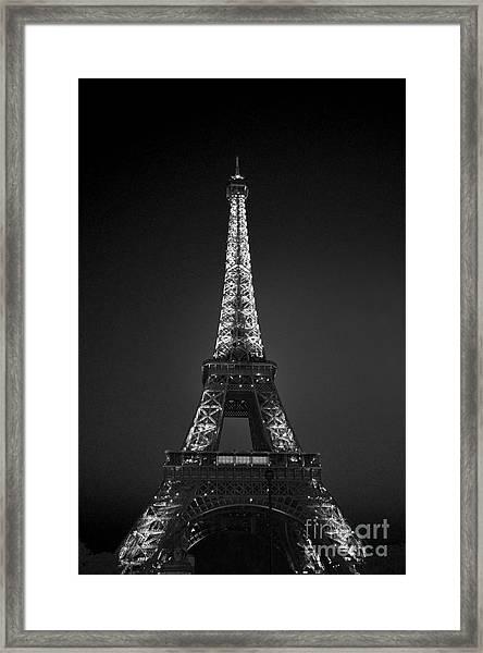 Eiffel Tower Infrared Framed Print