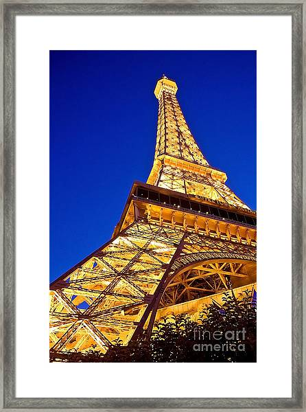 Eiffel Tower Paris Las Vegas Framed Print