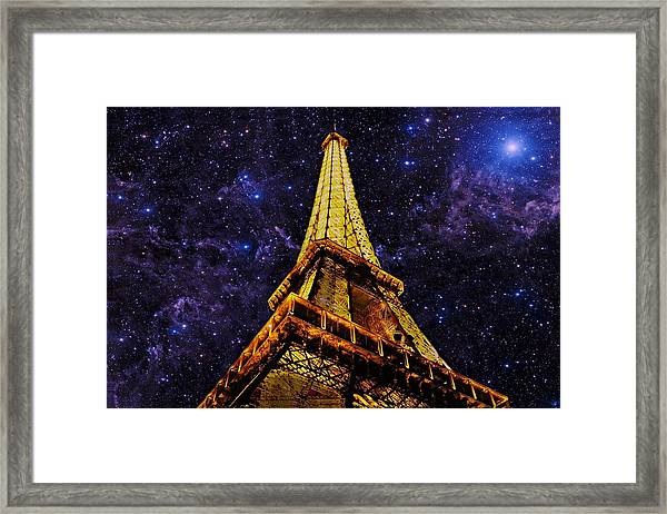 Framed Print featuring the photograph Eiffel Tower Photographic Art by David Dehner