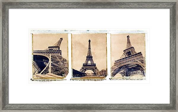 Eiffel Tower Framed Print by Tony Cordoza