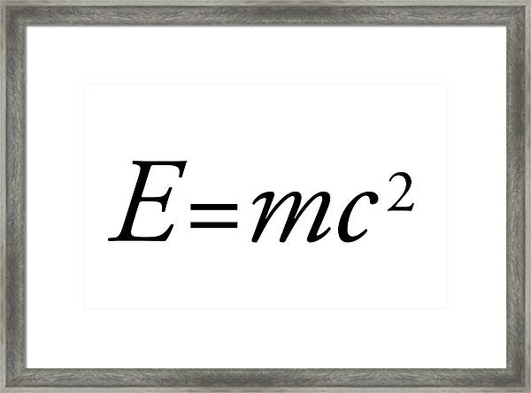 Einstein's Mass-energy Equation Framed Print by Science Photo Library
