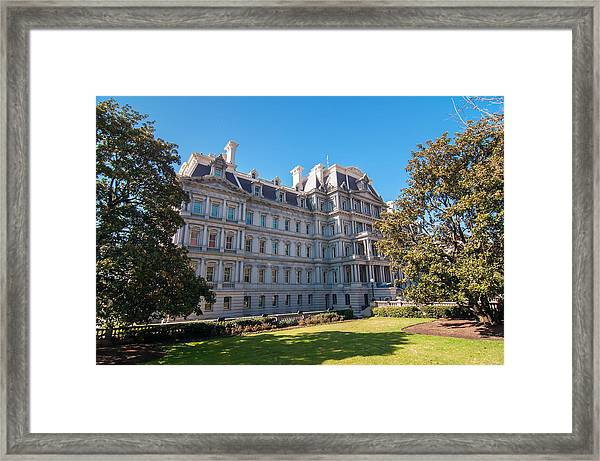 Eisenhower Executive Office Building In Washington Dc Framed Print