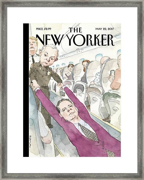Ejected Framed Print by Barry Blitt