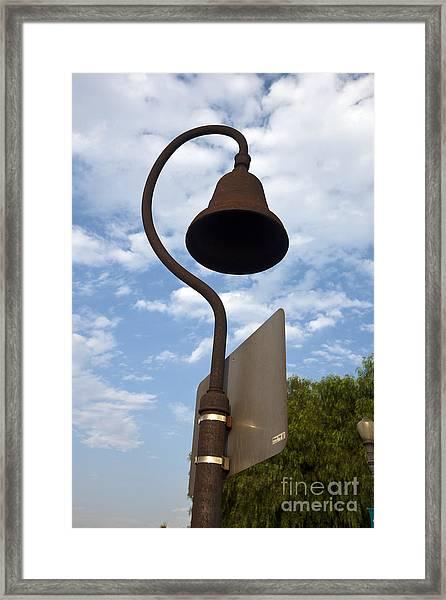 El Camino Real Bell Outside Of San Gabriel Mission Framed Print
