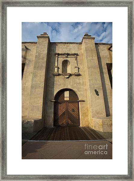 El Camino Real Door Entrance Way San Gabriel Mission Framed Print