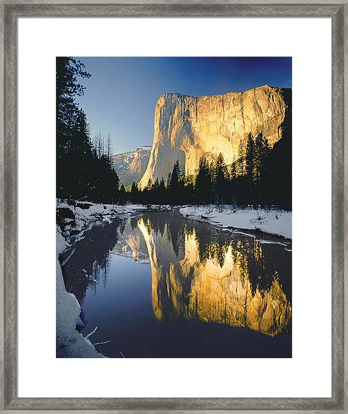 2m6542-el Cap Reflect Framed Print