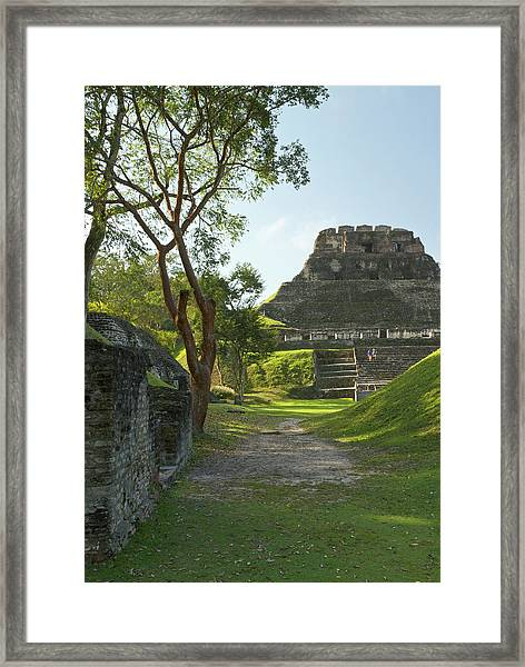 El Castillo Pyramid, Xunantunich Framed Print